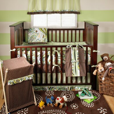 My Baby Sam Paisley Splash In Lime Crib Bedding Collection