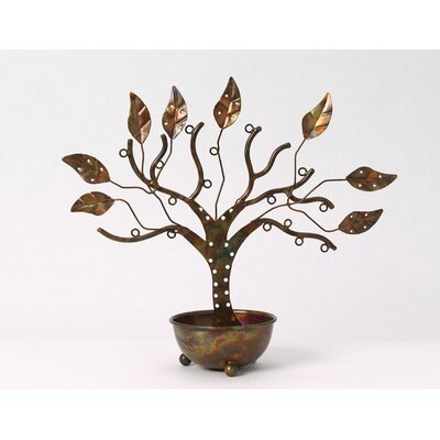 Ancient Graffiti Large Jewelry Tree with Bowl