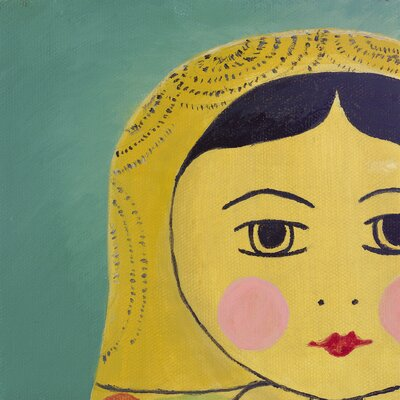 emma at home by Emma Gardner Matryoshka Tiny Face Giclee Print Art