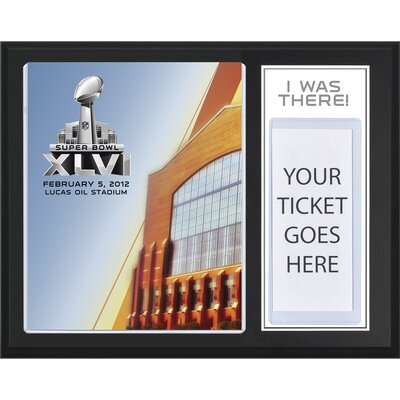 "Mounted Memories NFL New York Giants vs New England Patriots Super Bowl XLVI Sublimated ""I WAS THERE"" Plaque"