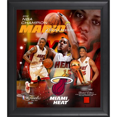Mario Chalmers Miami Heat 2012 NBA Champions Framed Collage with Game-Used Jersey