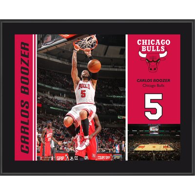 Carlos Boozer Chicago Bulls Sublimated Player Photo Plaque