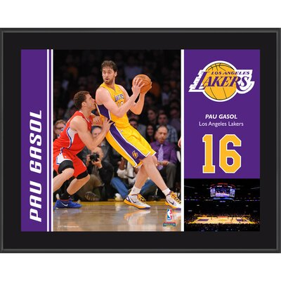 Mounted Memories Paul Gasol Los Angeles Lakers Sublimated Player Photo Plaque