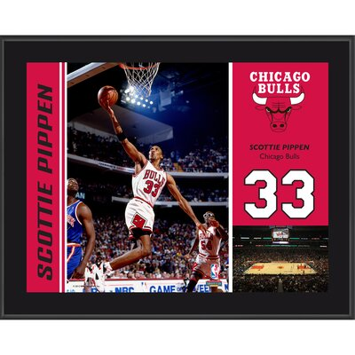 Scottie Pippen Chicago Bulls Sublimated Player Photo Plaque