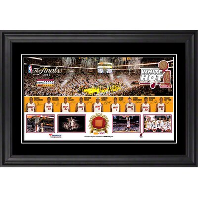 Miami Heat American Airlines Arena Miami Heat 2013 NBA Champions Framed Panoramic with ...