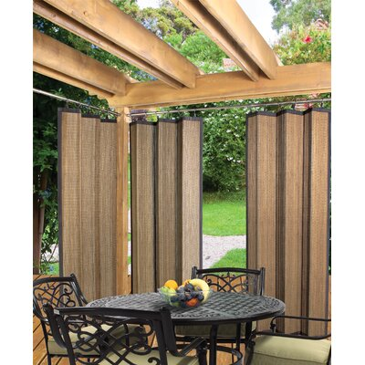 Versailles Home Fashions Indoor / Outdoor Bamboo Ring Top Panel in Espresso
