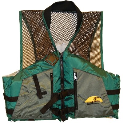 COD Paddlesports LLC Fishing Life Large Adult Vest in Green / Grey