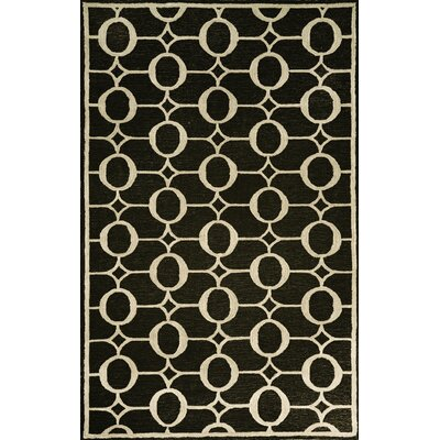 Liora Manne Spello Arabesque Black Outdoor Rug