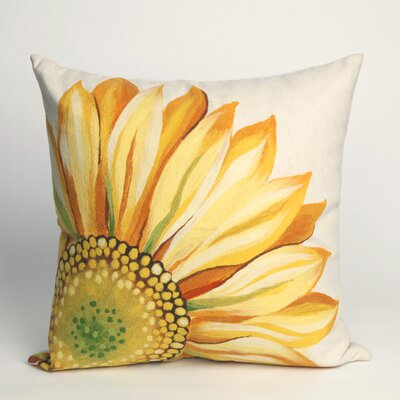 Liora Manne Sunflower Square Indoor/Outdoor Pillow