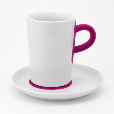 KAHLA Five Senses Touch! 12 oz. Macchiato Cup with Saucer