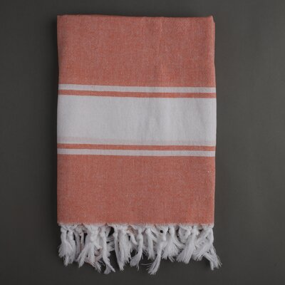 Nine Space Ayrika Classic Fouta Towel in Orange