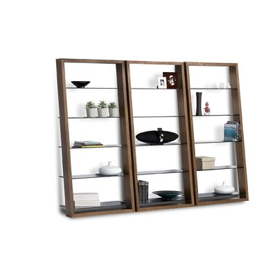 BDI Eileen 75&quot; Leaning Shelf Bookcase