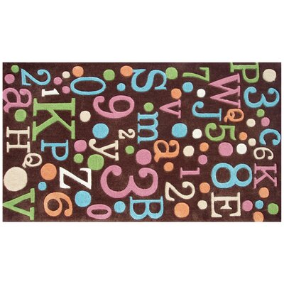 The Rug Market Back To School Brown / Multi Kids Rug