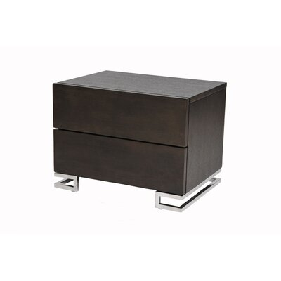 Pangea Home Hunter 2 Drawer Nightstand