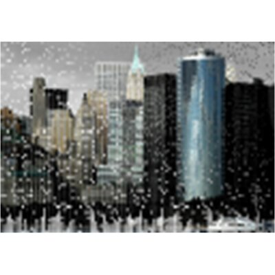 Speckled City Canvas Art
