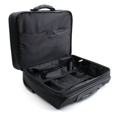 "Merax Carry-On Rolling 15.4"" Laptop Briefcase in Black"