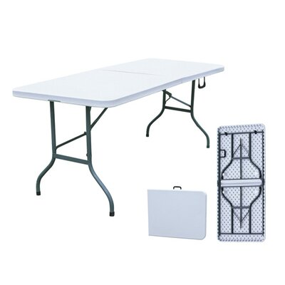 Merax All Purpose Fold-in-Half Table in Grey