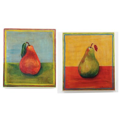 Stupell Industries Red and Green Pears Oversized Kitchen Wall Plaque Set