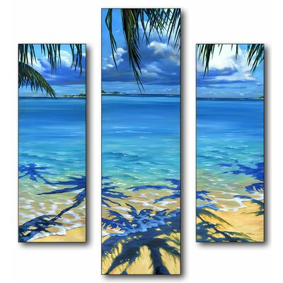Stupell Industries Palm Tree Shadows Triptych Wall Art
