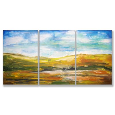 Home Décor Painted Horizons Triptych Art