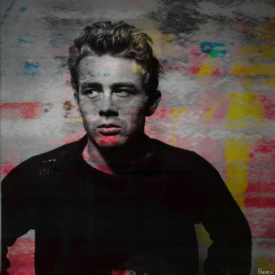 Parvez Taj James Dean - Torn Sweater 1 Wall Art