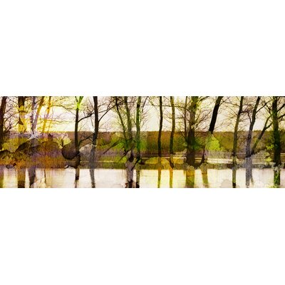 ParvezTaj Lake Trees Canvas Art