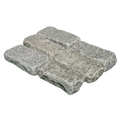Cabot Tumbled Granite 4&quot; x 8&quot; x 2&quot; Cobblestones in Impala Black