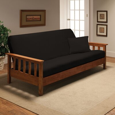 Madison Home Stretch Jersey Full Futon Cover in Black