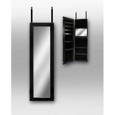 InnerSpace Luxury Products Over the Door Jewlery Armoire in Black