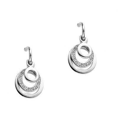 Circle cubic zirconia Earrings