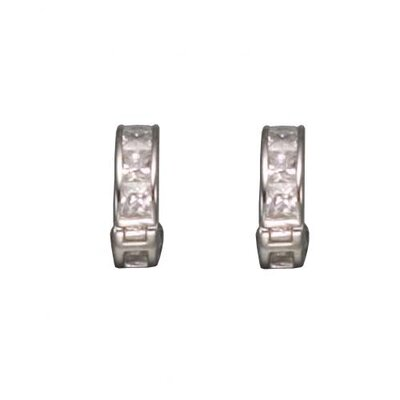 Princess Cut Hughie Plated Earrings