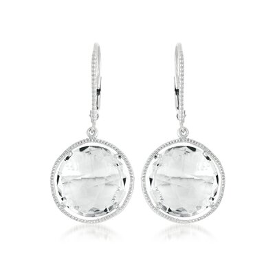Rock Candy Radiant Rhodium Plated Earrings