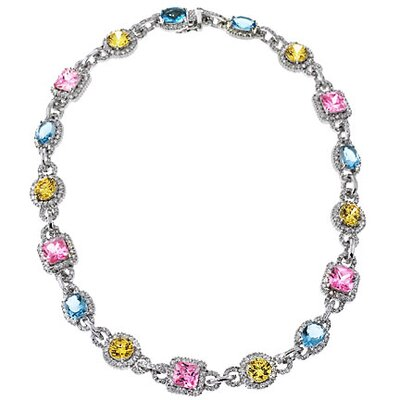 CZ Collections Oscars Night Out Party Necklace