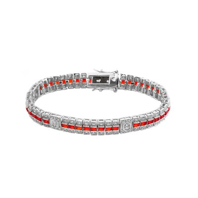 CZ Collections Cubic Zirconia Diamond Tennis Style Bracelet