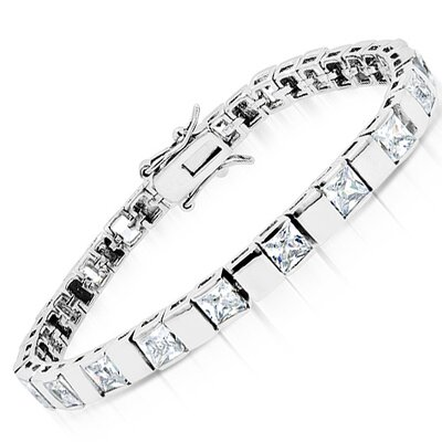 CZ Collections Princes Cut Cubic Zirconia Bracelet