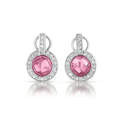 Circle Cubic Zirconia Diamond Earrings