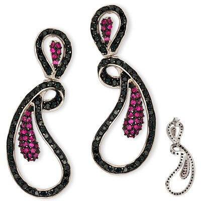 Fancy Twisted Thin Outline Cubic Zirconia Earrings