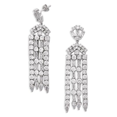CZ Collections Bridal Elegant Round Cubic Zirconia Earrings
