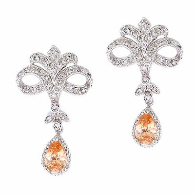 Vintage Cubic Zirconia Diamond Chandelier Earrings