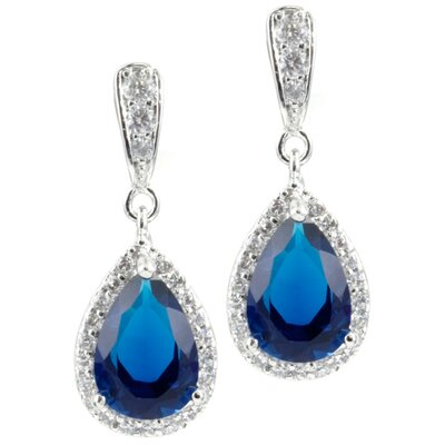 CZ Collections Cubic Zirconia Pear Drop Earrings