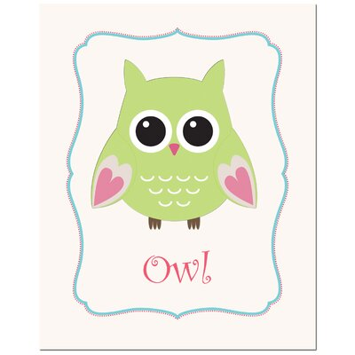 Secretly Designed Solid Color Owl in Frame Art Print