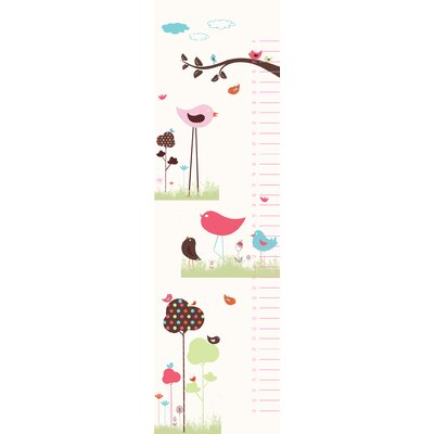 Secretly Designed Bird Valley Growth Chart Wall Decal
