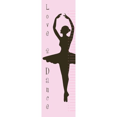 Secretly Designed Ballet Growth Chart Wall Decal