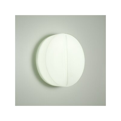 Rotaliana Lucio W1 Wall Sconce in Chrome / Etched White