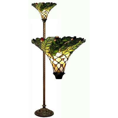 Warehouse of Tiffany Leaf Torchiere Floor Lamp