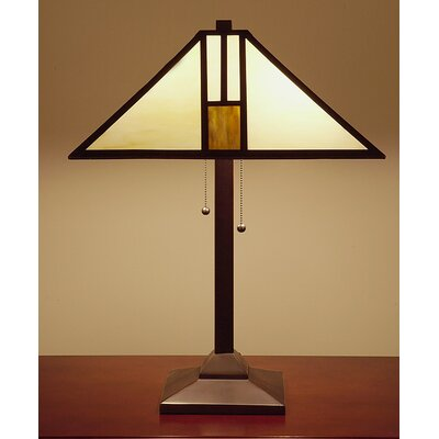 Warehouse of Tiffany White Mission-Style Table Lamp