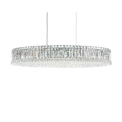 1 Light Crystal Drum Foyer Pendant
