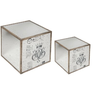 A&amp;B Home Group, Inc Mirror End Table (Set of 2)