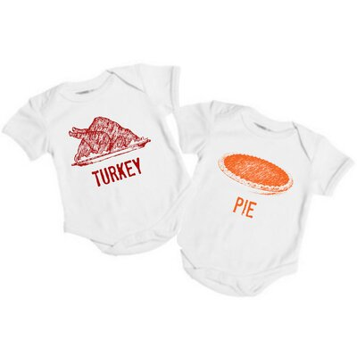 Spunky Stork Turkey & Pie Set Organic One Piece