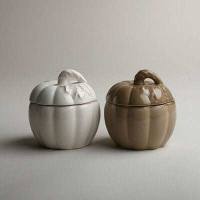 TAG Harvest Market Lidded Pumpkin Bowl (Set of 2)
